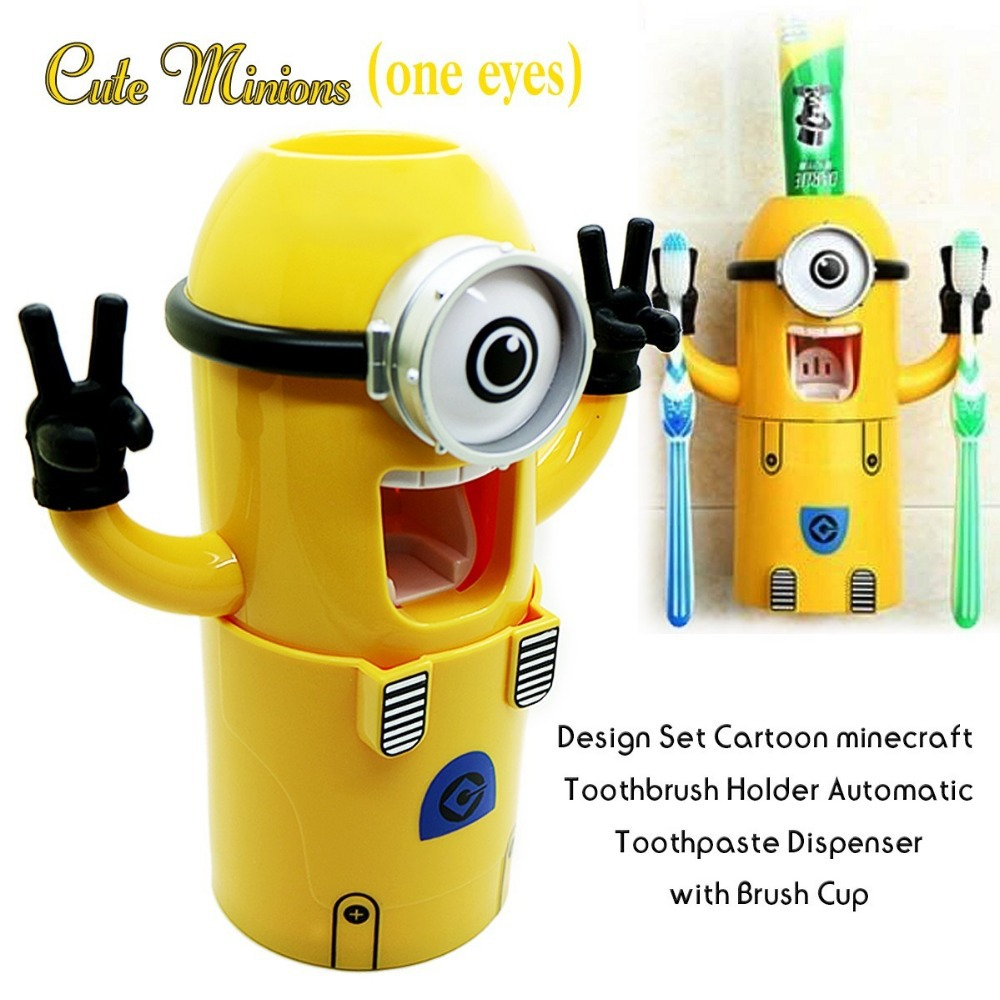 Minion Tooth Brush Set – Perlengkapan Sikat Gigi Minion
